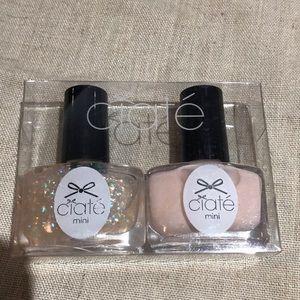 New! Set of 2 Ciate mini polishes